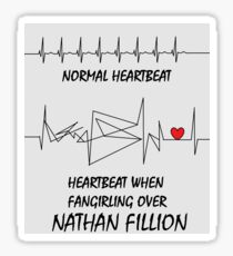 Heartbeat when fangirling over Nathan Fillion Sticker