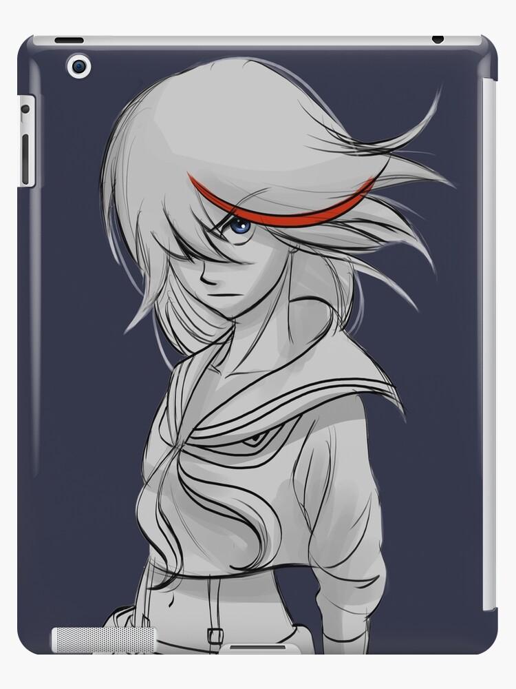 Kill La Kill Kiru Ra Kiru Ryuko Matoi Sketch Fan Art Ipad Case Skin By Kirart