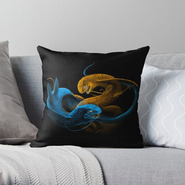 Fighting Leviathans Throw Pillow