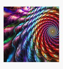 Rainbow flower Photographic Print