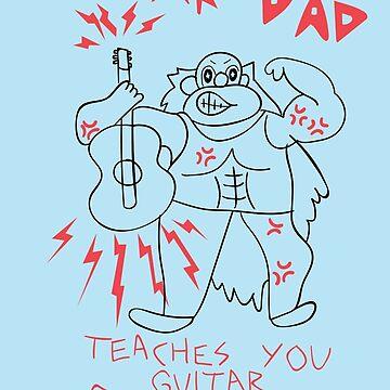 Steven Universe - Guitar Dad by missarrowette
