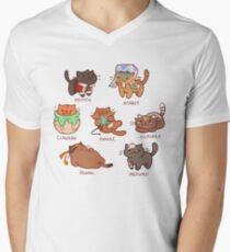 Form Nyaatron! Men's V-Neck T-Shirt