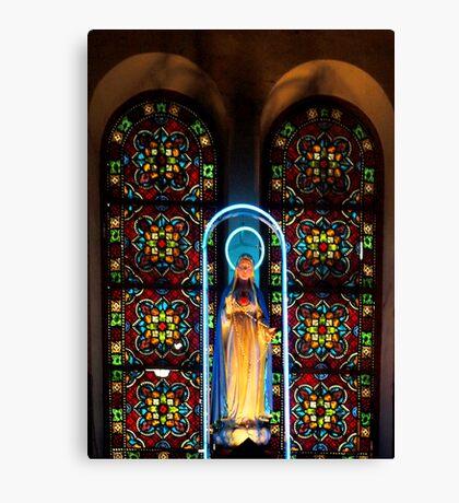 Leadlight Window No. 1 - Notre Dame Cathedral, Saigon Vietnam Canvas Print