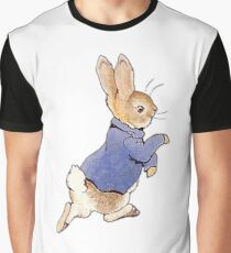 Nursery Characters, Peter Rabbit, Beatrix Potter. In his blue jacket Graphic T-Shirt