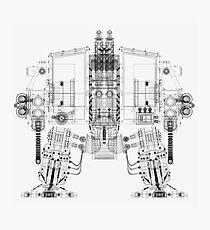 Dreadnought Wireframe Photographic Print