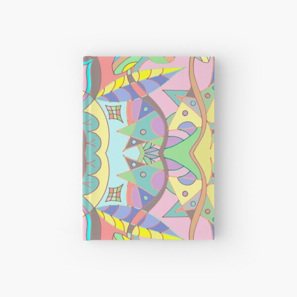 Leaves abstract pattern Hardcover Journal
