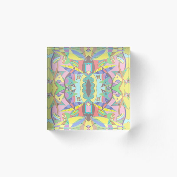 Leaves abstract pattern Acrylic Block