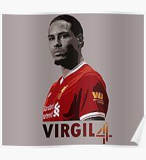 Virgil Van Dijk Liverpool Poster