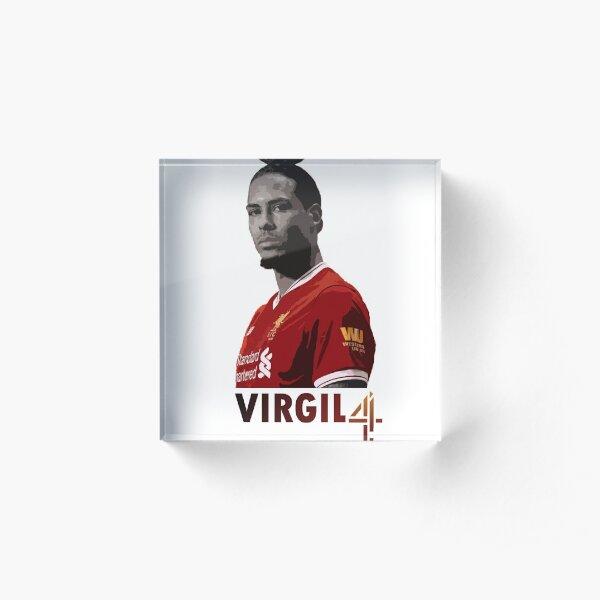 Virgil Van Dijk Liverpool Acrylic Block