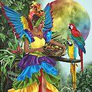 Tropical Rainbow Tutti-Frutti Parrot Fairy by Alison Spokes