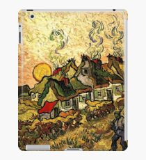 Van Gogh - Thatched Cottages in the Sunshine iPad Case/Skin
