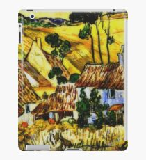Van Gogh - Thatched Houses against a Hill iPad Case/Skin