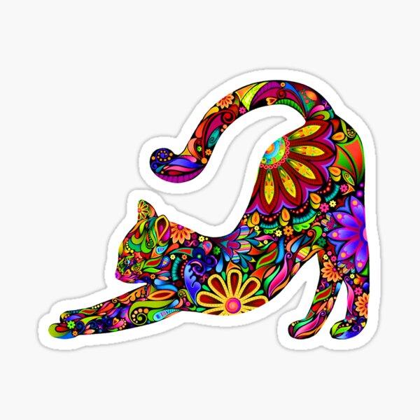 chat psychédélique Sticker