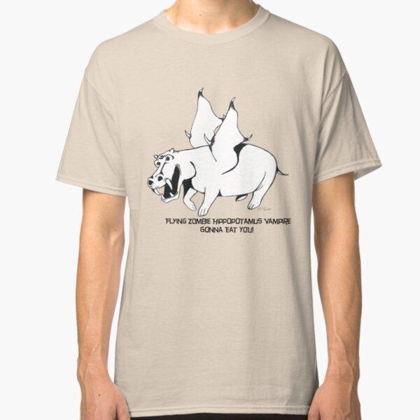 Flying Zombie Hippopotamus Vampire Classic T-Shirt