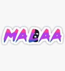 Malaa Logo Purple, Blue, & Pink Sticker