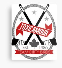ToxicAmour Hockey Metal Print