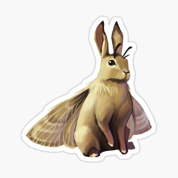 Brown Bunny Moth Sticker