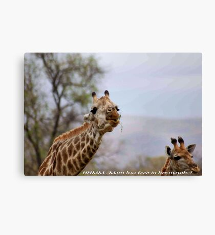 ARE YOU TALKING TO ME ....? Canvas Print