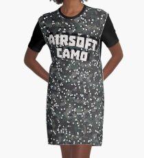 Airsoft Camo Graphic T-Shirt Dress