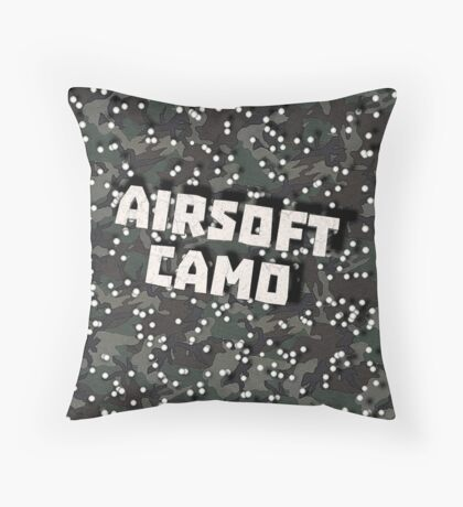 Airsoft Camo Throw Pillow