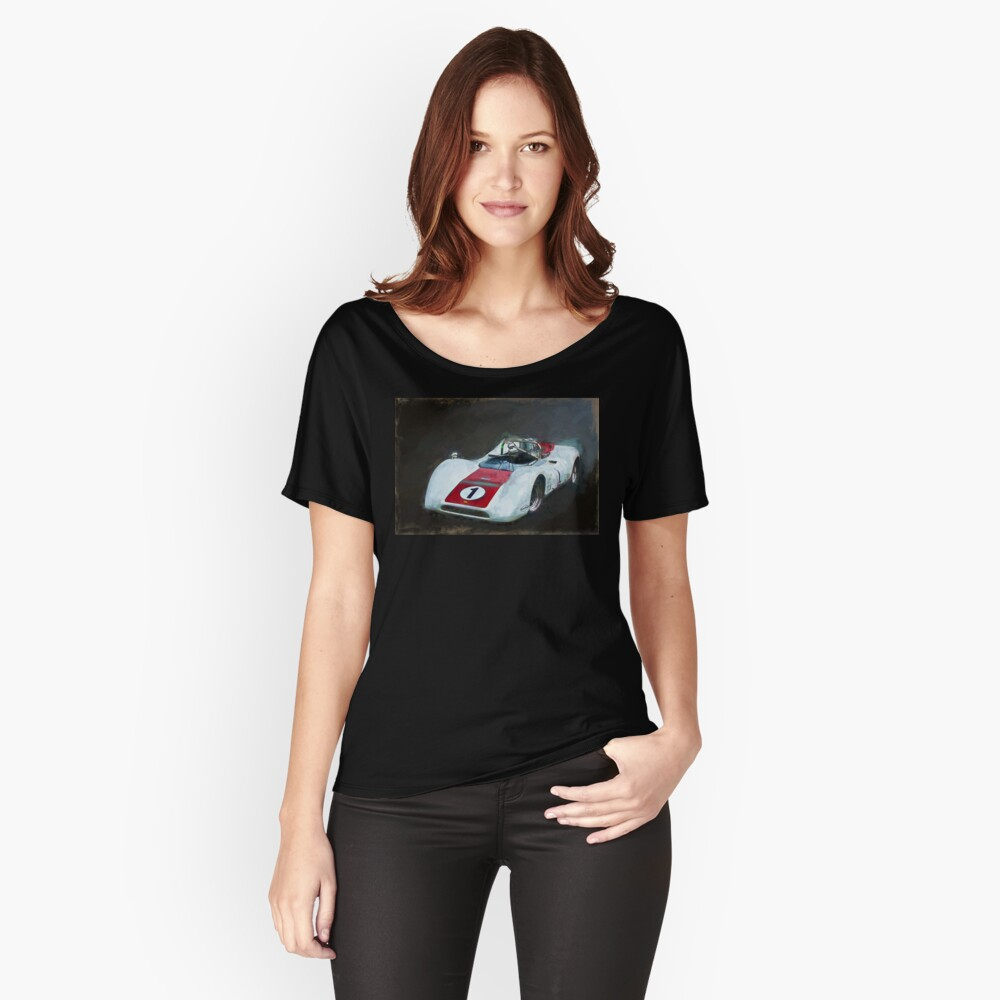 White Can-Am Lola T160 Relaxed Fit T-Shirt