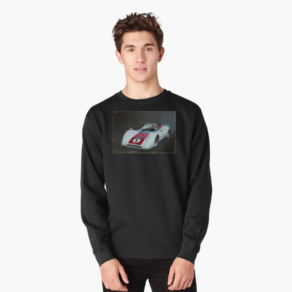 White Can-Am Lola T160 Pullover Sweatshirt