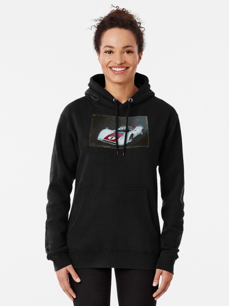 Alternate view of White Can-Am Lola T160 Pullover Hoodie