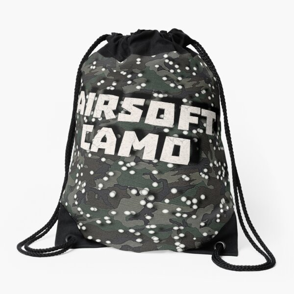 Airsoft Camo Drawstring Bag