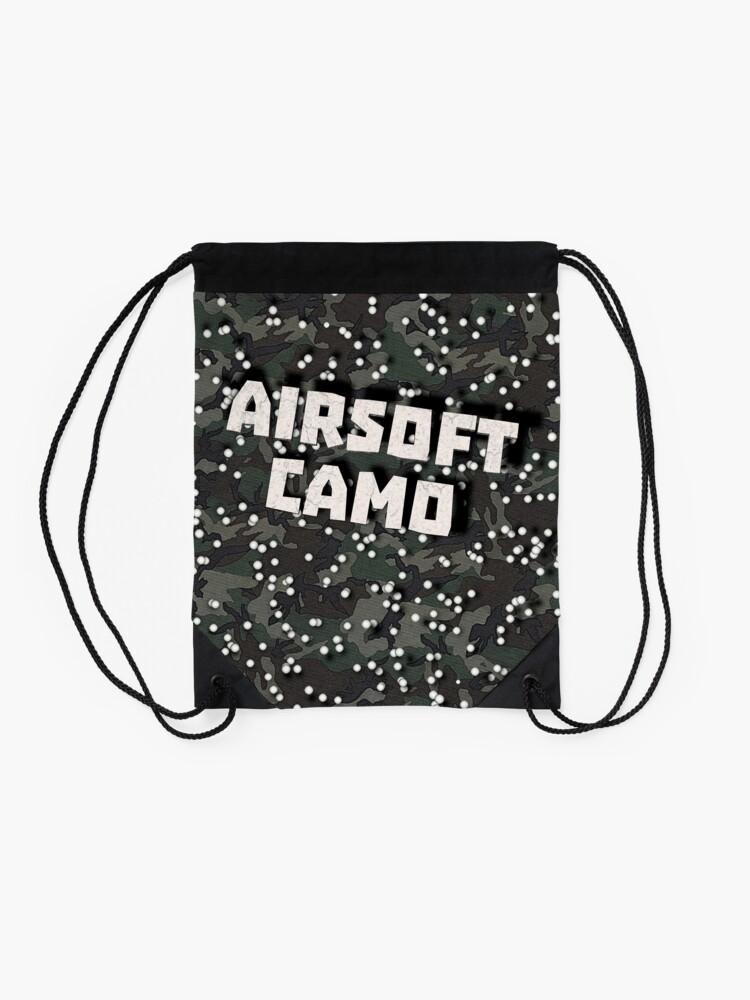 Alternate view of Airsoft Camo Drawstring Bag