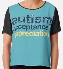 Autism Acceptance & Appreciation  Chiffon Top