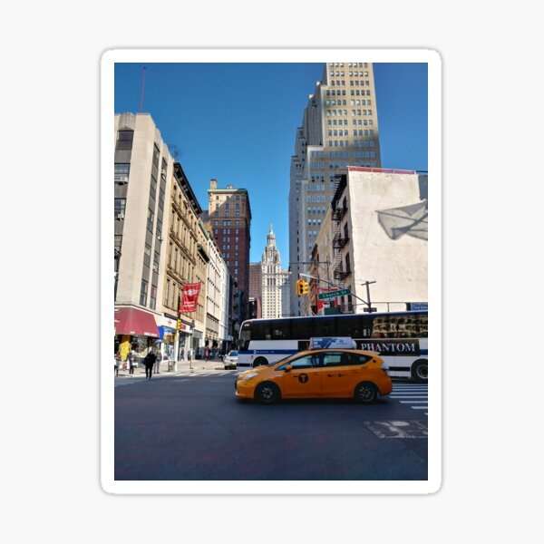 New York, Manhattan, New York City, Skyscraper, tower block, high rise building, tower, block, high rise, building Sticker