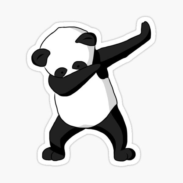 Dabbing Party Panda Pegatina