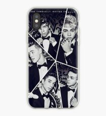 black and white collage iPhone Case