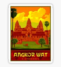ANGKOR WAT : Vintage Cambodia Temple Print Sticker