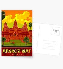 ANGKOR WAT : Vintage Cambodia Temple Print Postcards