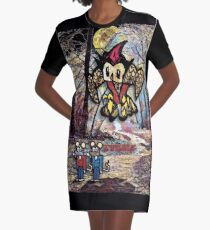 The Owl Graphic T-Shirt Dress