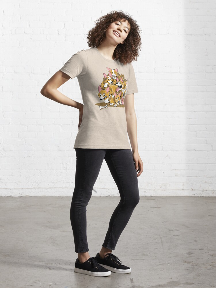 Alternate view of Corgi Cluster Essential T-Shirt