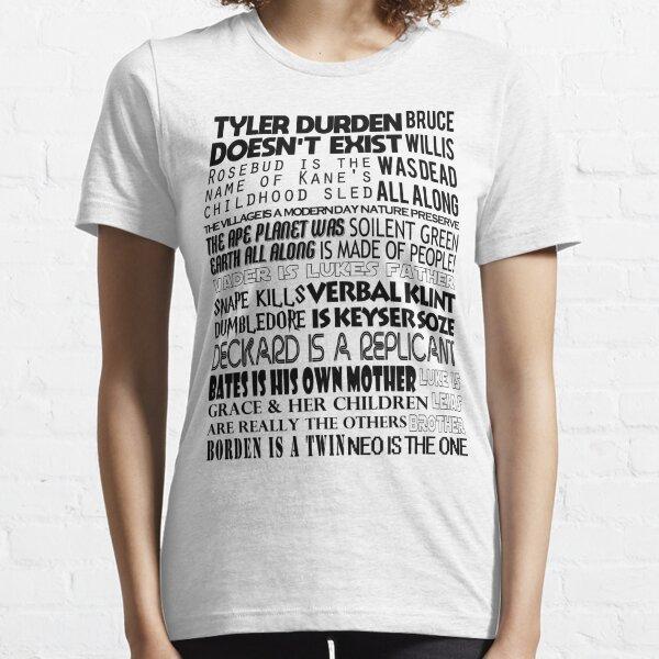 Classic Movie Spoilers Graphic Design Essential T-Shirt