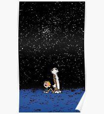 Sterne in der Nacht des Himmels Poster