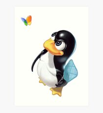 Penguin Linux Art Print