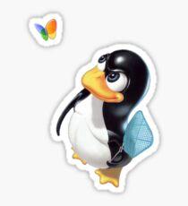 Penguin Linux Sticker