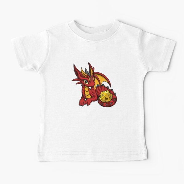 Red and Gold Dice Dragon Baby T-Shirt