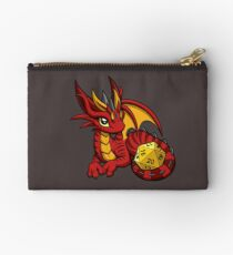 Red and Gold Dice Dragon Studio Pouch
