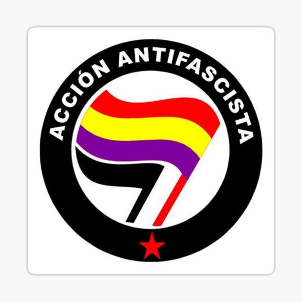 Acción Antifascista - Acción Antifascista - República Española - Bandera Tricolor Pegatina