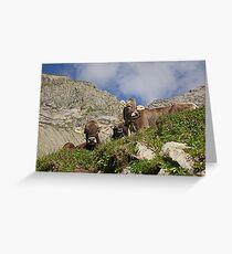 Alpine Beasts Greeting Card