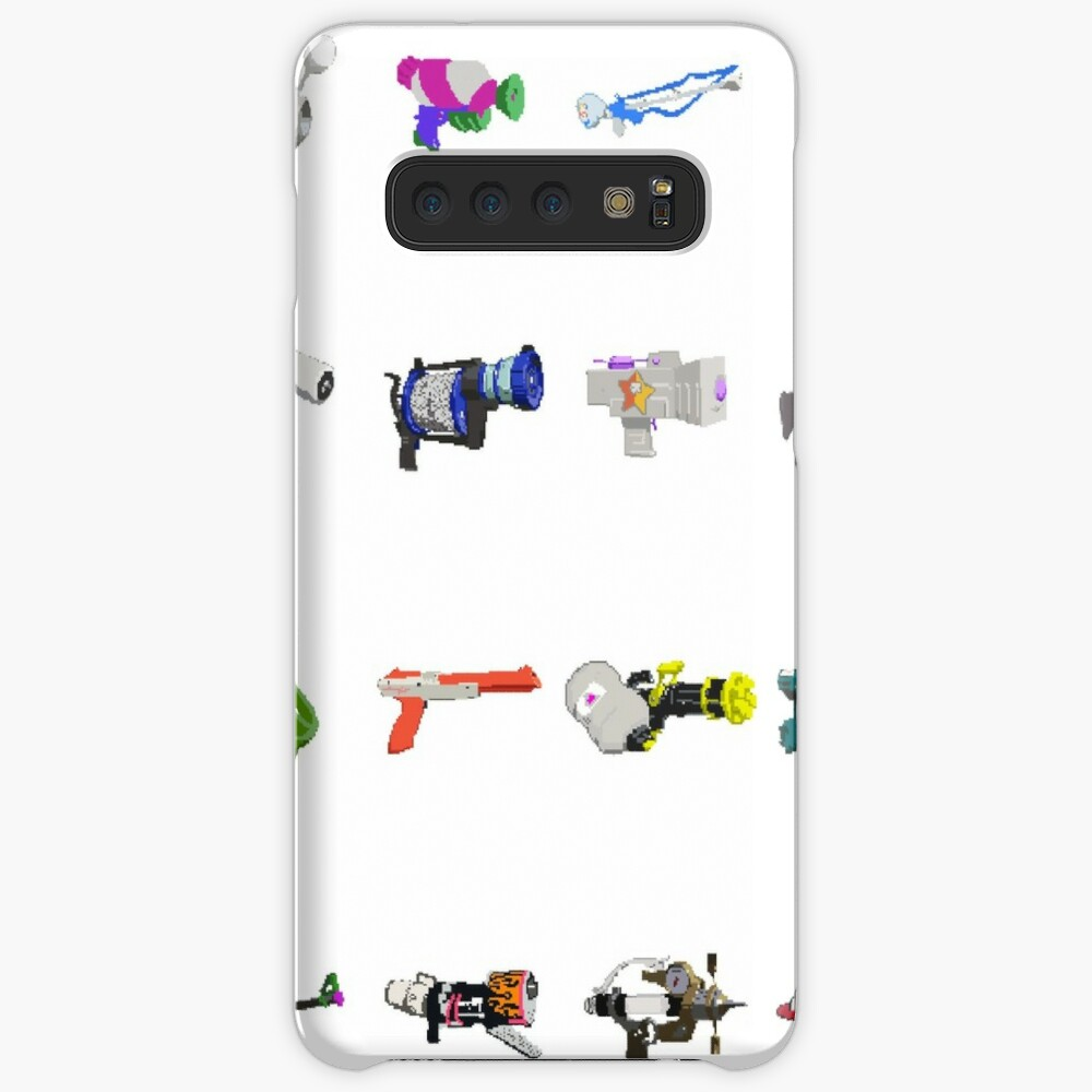 Splatoon 8 Bit Weapons Pixel Art Case Skin For Samsung Galaxy