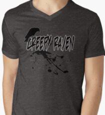 CreepyRaven Splatter  Men's V-Neck T-Shirt