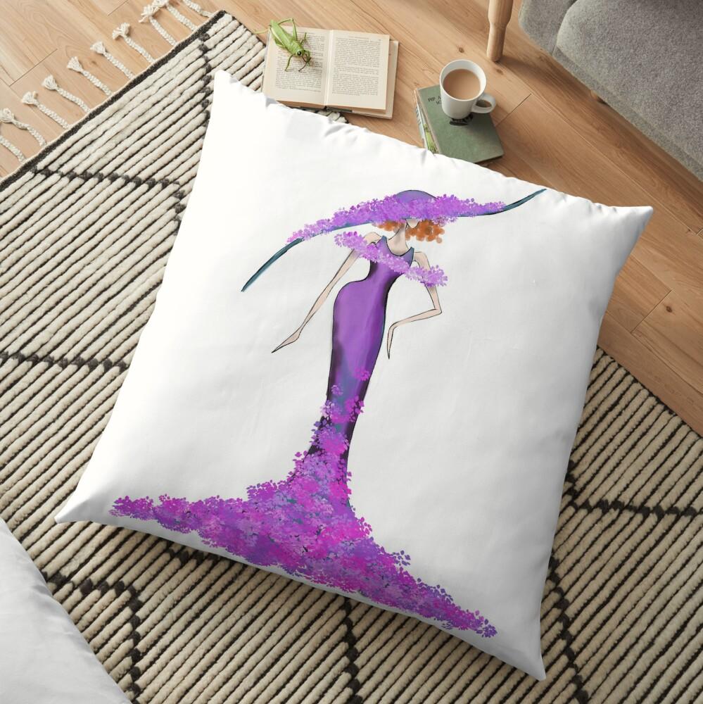 Floral Elegance  Floor Pillow