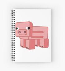 Minecraft Pig Spiral Notebook