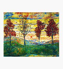 HD Four Trees, by Egon Schiele -  HIGH DEFINITION Photographic Print